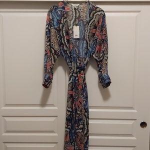 ASOS Curve Print Wrap Dress